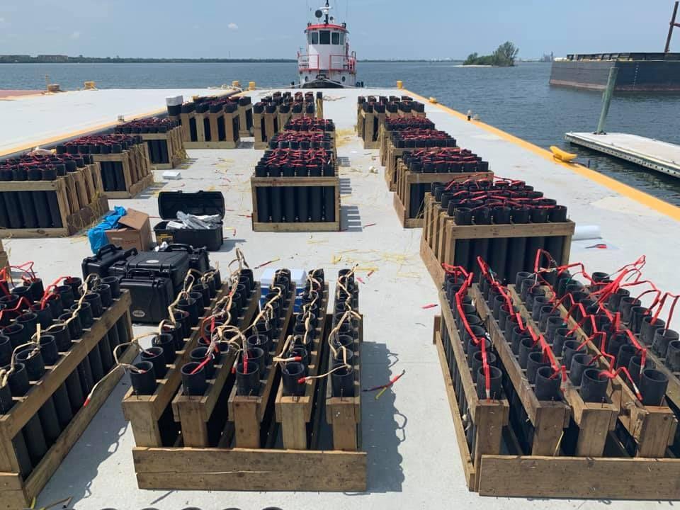 Fireworks barge job July 4, 2019