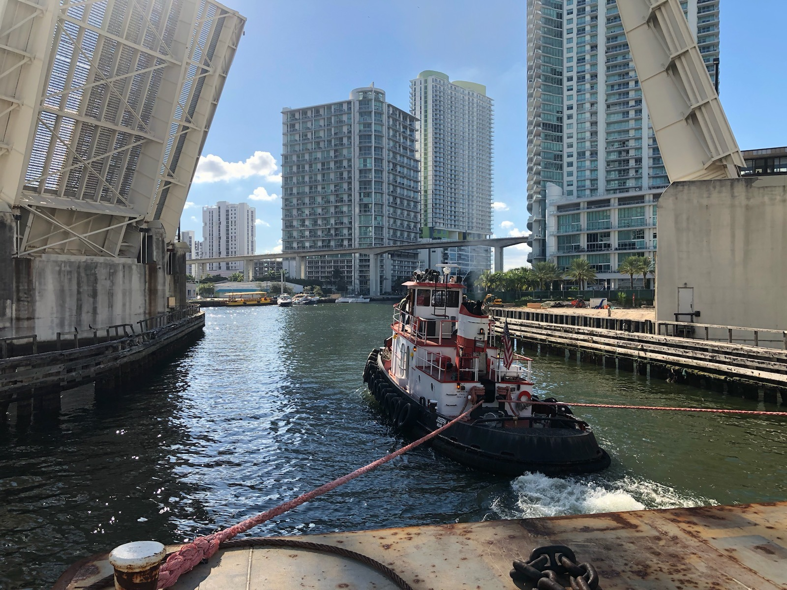 Joseph A towing barge